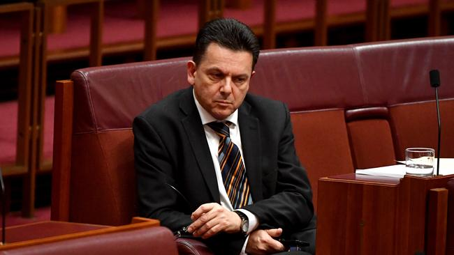 Nick Xenophon Team leader Senator Nick Xenophon in the Senate chamber at Parliament House, Picture: Mick Tsikas