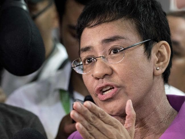 Maria Resser, CEO of Rappler, a Philippine news website threatened with closure by the Duterte government. Picture: AFP