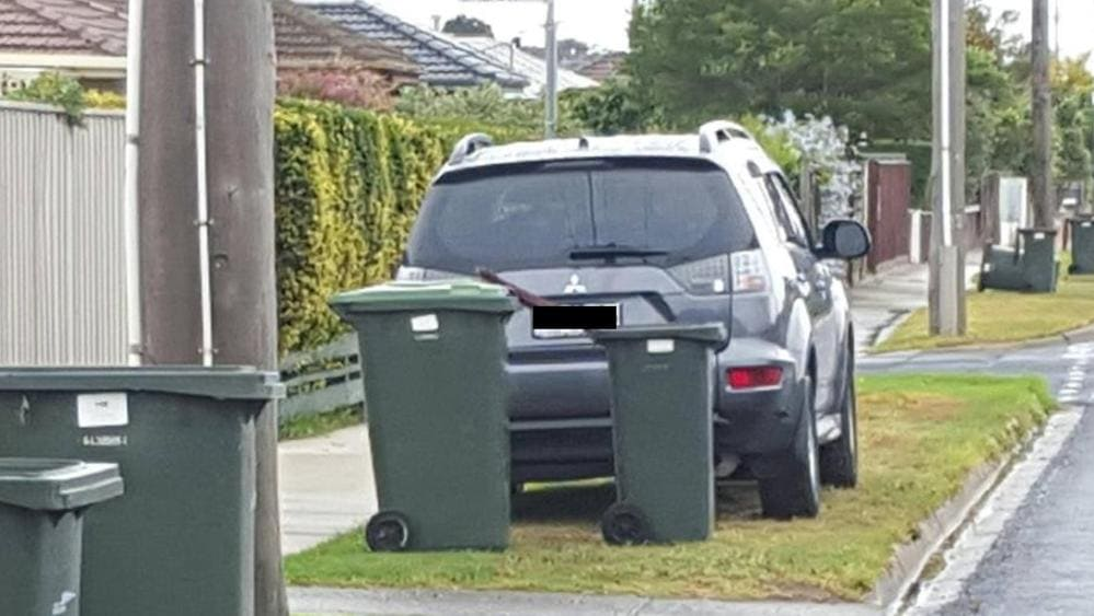 Geelong mobile speed camera hides behind wheelie bins to nab drivers herald sun - Rd rubbish bin ...