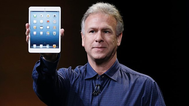 Phil Schiller, Apple's senior vice president of worldwide product marketing, introduces the iPad Mini. AP/Marcio Jose Sanchez