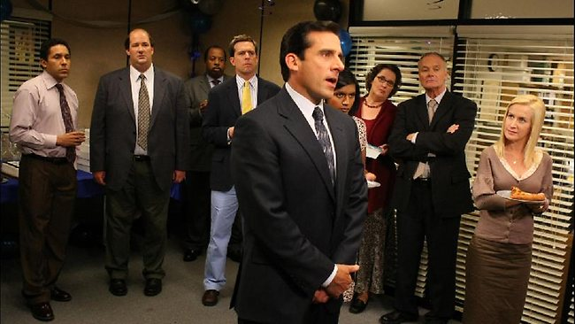 Steve Carell is the crazy boss, Michael Scott, in the US sitcom The Office.