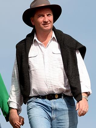 A casual-looking Barnaby Joyce is championing a classless society.