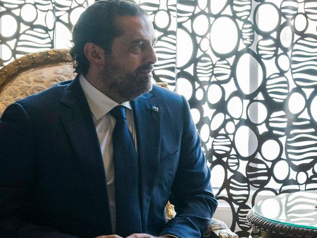 Lebanon's President believes the country's former Prime Minister Saad al-Hariri (pictured) is being held against his will in Saudi Arabia. Picture: AFP PHOTO / WAM / MOHAMMED AL-HAMMDADI