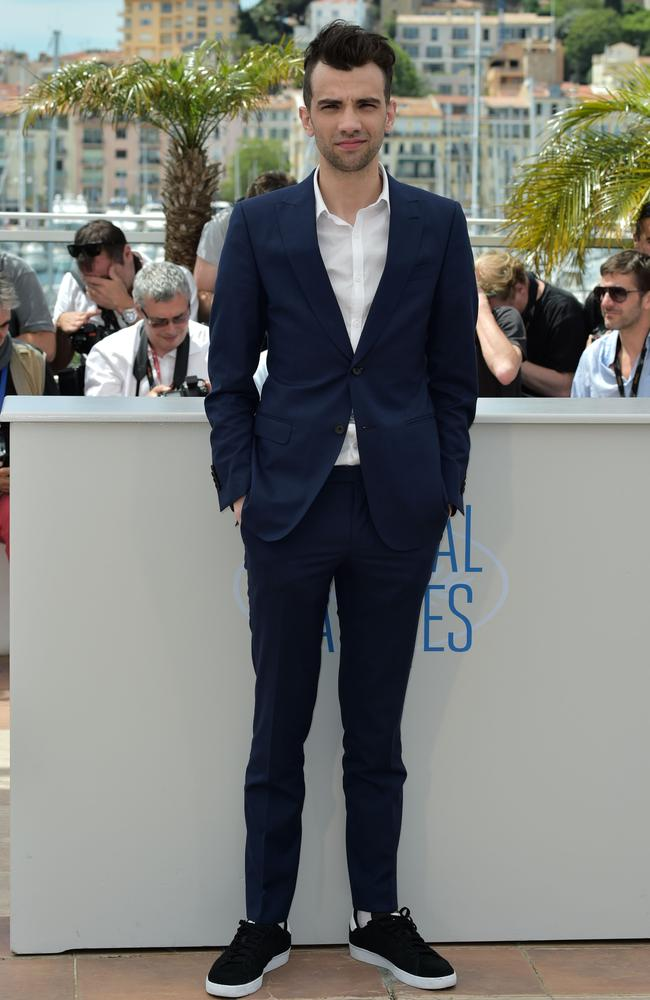 Canadian actor Jay Baruchel poses for photographers in Cannes last month.