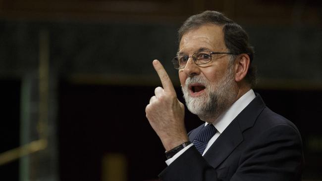 Spanish Prime Minister Mariano Rajoy has given Catalans one week to get themselves organised. Picture: Pablo Blazquez Dominguez