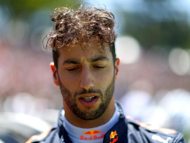 Daniel Ricciardo isn't afraid to launch from a long way back. (Photo by Dan Istitene/Getty Images)
