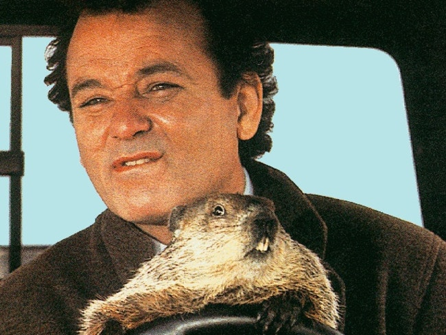 Is Bill Murray stuck in purgatory in Groundhog Day?