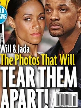 Not happy ... Jada Pinkett Smith and husband Will. Picture: Star