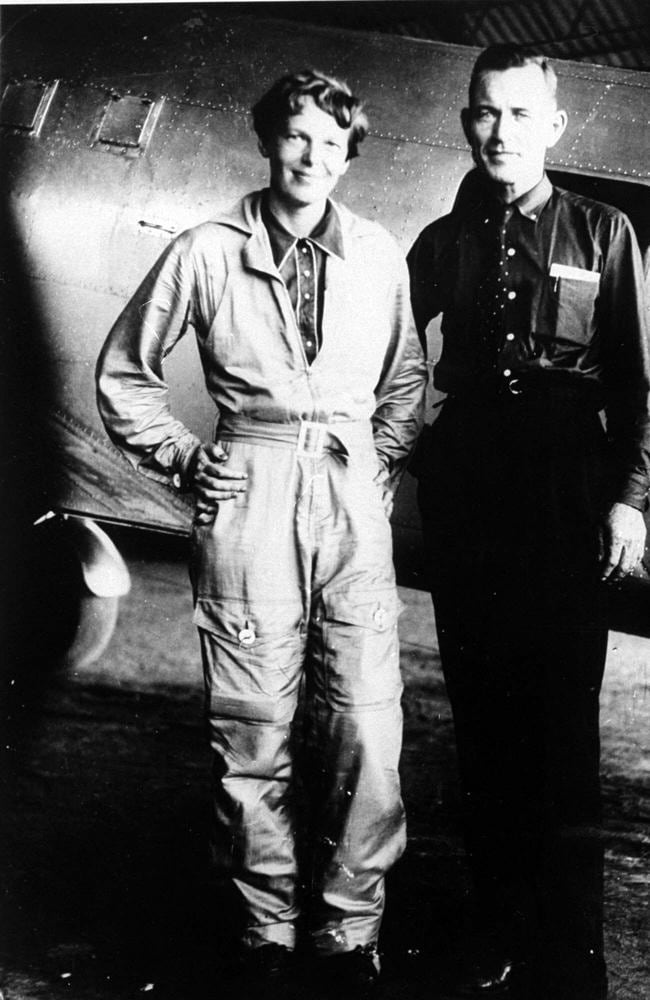 Image result for amelia earhart and noonan