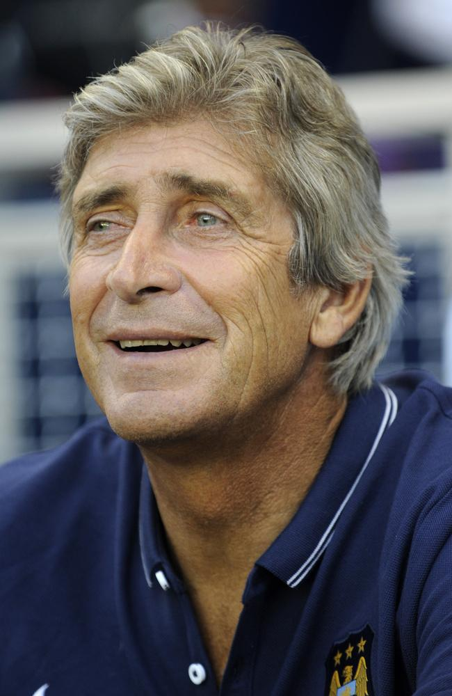 Manchester City FC manager Manuel Pellegrini seems mostly content with his squad.