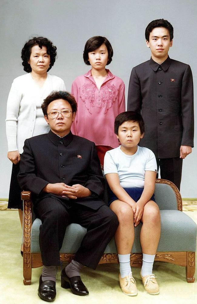 This photo taken in 1981 shows a young Kim Jong-Nam sitting front right next to his father Kim Jong-il (left). Also pictured standing is Kim's sister-in-law Sung Hye-Rang (L-top), Sung's daughter Lee Nam-Ok (C-top) and son Lee Il-Nam (R-top). Picture: AFP