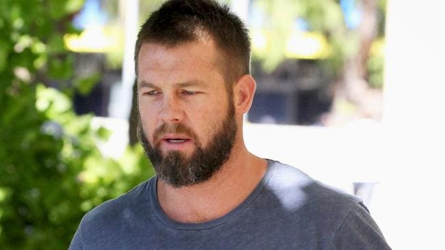 Former West Coast Eagles AFL player Ben Cousins arrives at the Fremantle Magistrates Court in Perth. Picture: AAP