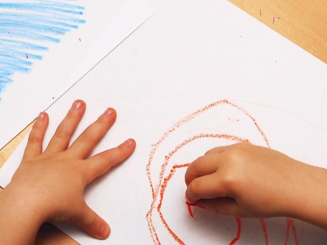 """I picked the leads of coloured pencils out of the cracks in the wooden classroom floor and used them to colour in a poster for a colouring."" Photo: Thinkstock"