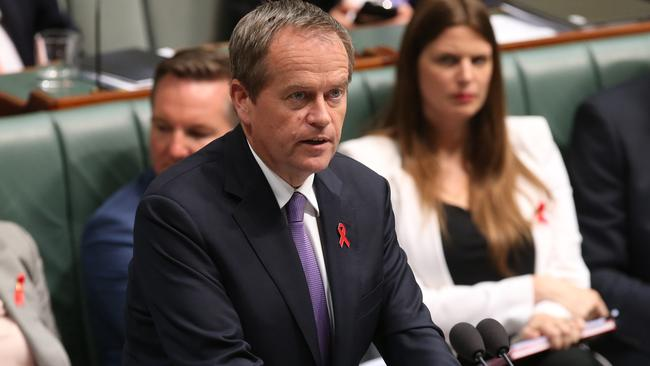 We'll be back ... Opposition Leader Bill Shorten wishes the Prime Minister a Merry Christmas. Picture: Kym Smith/News Corp.