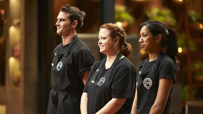 Elimination time ... Byron, Amy and Tash await their verdict.