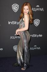 Bella Thorne arrives at the InStyle and Warner Bros. Golden Globes afterparty at the Beverly Hilton Hotel. Picture: Matt Sayles/Invision/AP