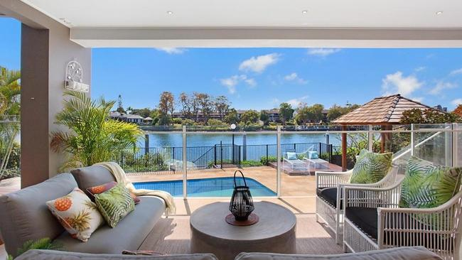 The view from 41 Conifer Cres, Broadbeach Waters. Picture: realestate.com.au.