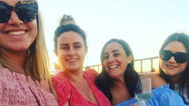 Friends Julia Rocca, Steph Lamb, Julia Monaco and Alana Reader on holiday. Picture: Facebook.