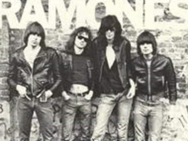 "Epoch-making ... The cover of the 1976 vinyl album ""The Ramones"" by the Ramones."