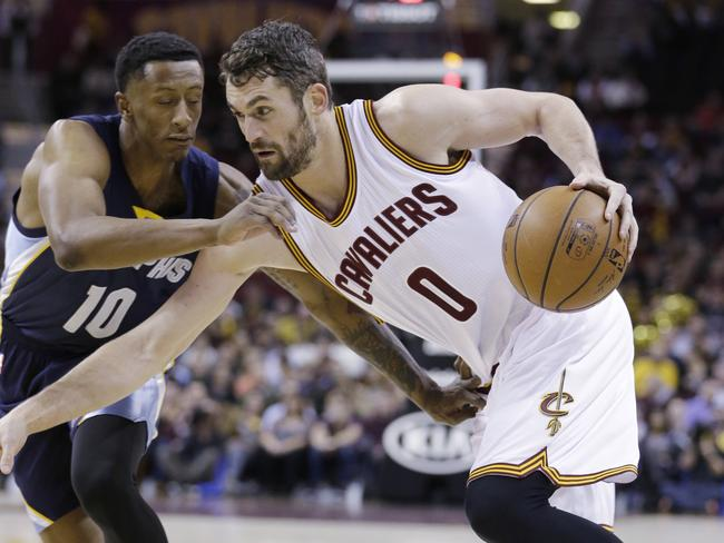 Cleveland Cavaliers' Kevin Love.