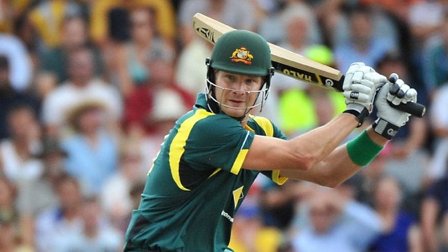 Shane Watson in action for Australia.