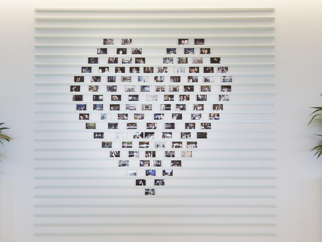 Employees at Twitter HQ consider themselves to be a family. As such, they update this wall with new polaroids every so often to keep the memories alive.