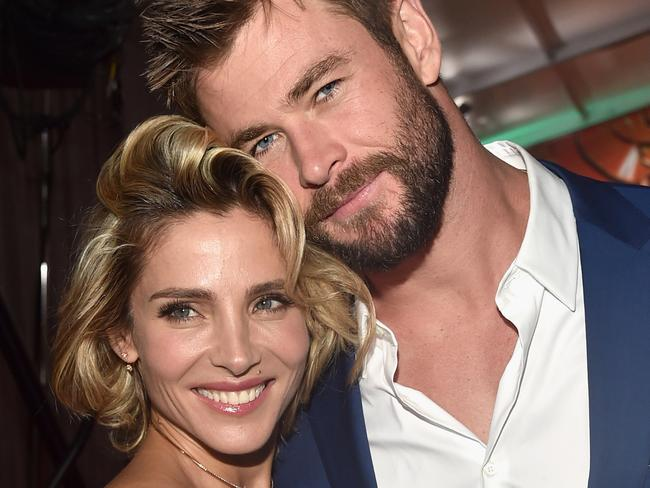 """HOLLYWOOD, CA - OCTOBER 10:  Elsa Pataky and actor Chris Hemsworth at The World Premiere of Marvel Studios' """"Thor: Ragnarok"""" at the El Capitan Theatre on October 10, 2017 in Hollywood, California.  (Photo by Alberto E. Rodriguez/Getty Images for Disney)"""