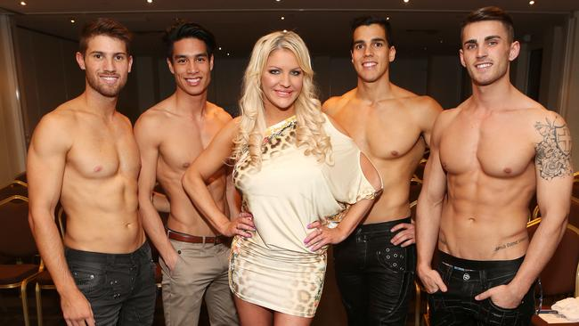 Mr World Finals. Nick Kennett, Michael Bui, Brynne Edelsten, Laurence Templar and Chris Nayna.