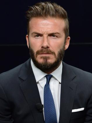 David Beckham at the launch of #WhoseSideAreYouOn, a new campaign which harnesses the power of sport to raise awareness of conservation issues around the world, on June 9, 2014.