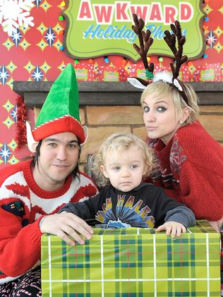 Pete Wentz, Ashlee Simpson and their son Bronx Mowgli Wentz in 2010.