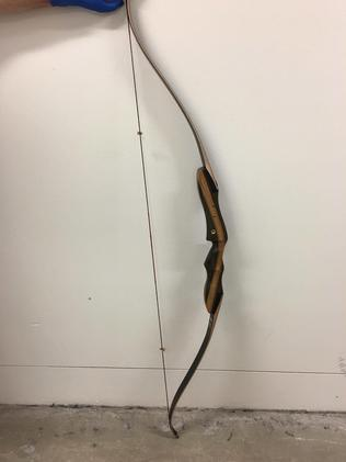 "The ""Epic Traditional"" bow the victim used against the alleged burglar."