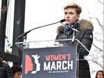 WASHINGTON, DC - JANUARY 21: Scarlett Johansson attends the Women's March on Washington on January 21, 2017 in Washington, DC. (Photo by Theo Wargo/Getty Images)