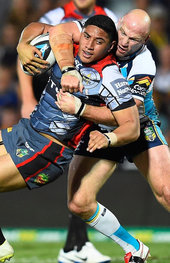 TJason Taumalolo played his best match of the year against the Titans.