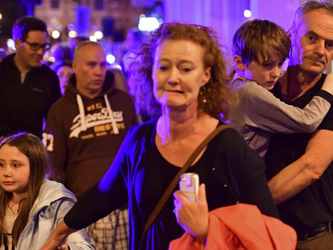 The hugely popular area was filled with families and late night revellers. Picture: Dominic Lipinski/PA via AP)
