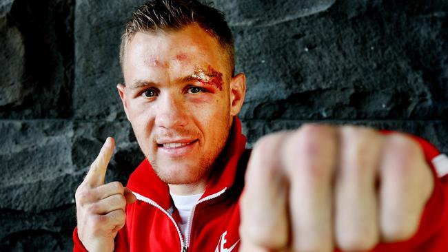 Australian boxer Will Tomlinson in Melbourne.