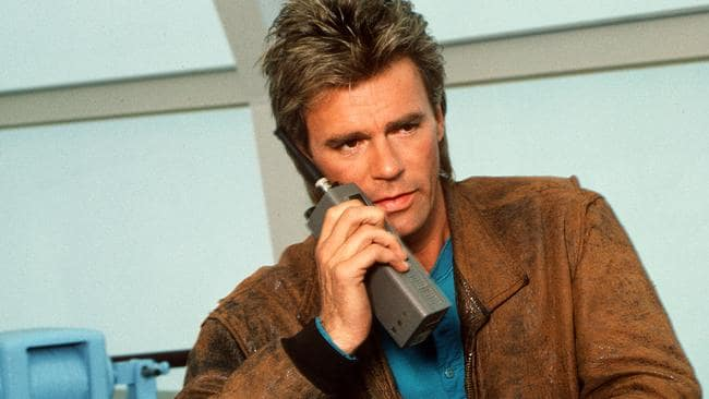 Richard Dean Anderson as MacGyver.