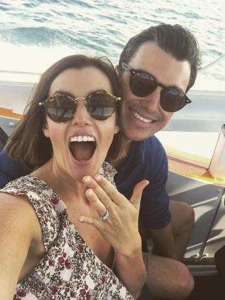 Mel and her husband-to-be Joel. Photo: Instagram