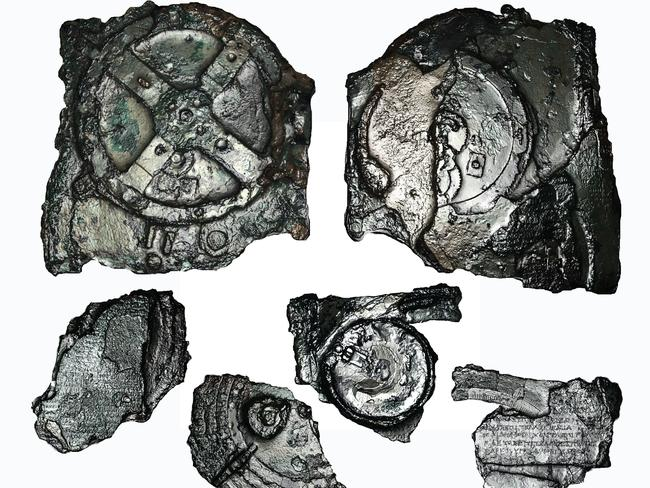 Confused components ... Some of the larger fragments so far recovered of the Antikythera mechanism.