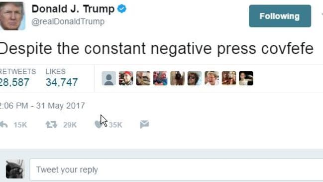 Trump's original #covfefe tweet went viral within minutes.