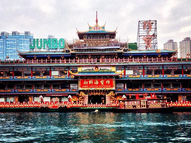 One of Hong Kong's famous floating restaurants.