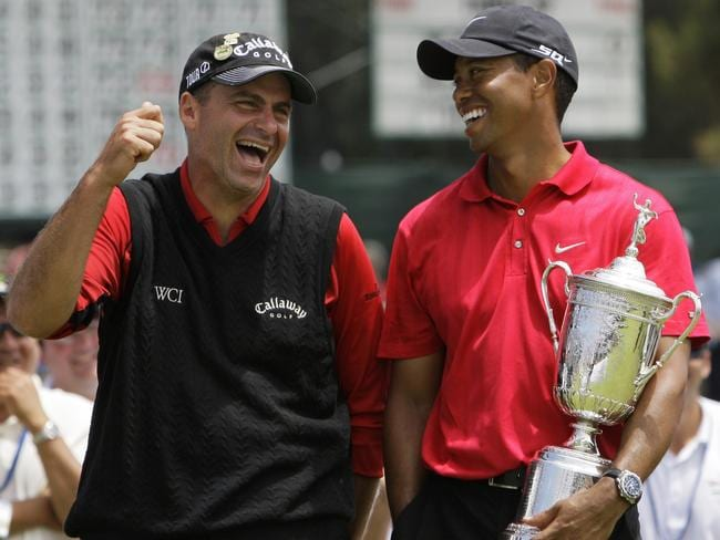 Tiger Woods after beating Rocco Mediate in the 2008 US Open playoff round.