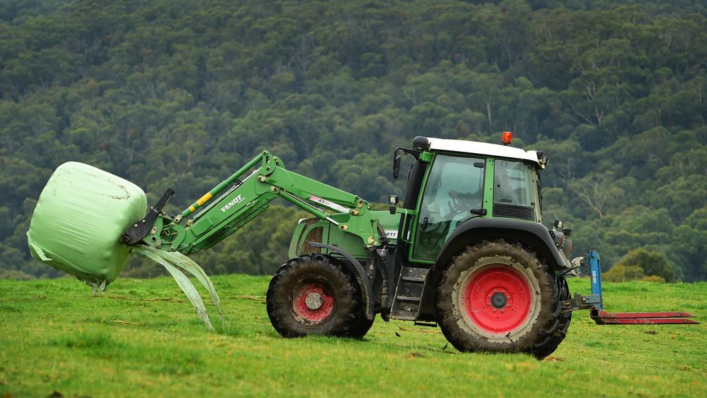 Tractor Going Right On Man : Man dead after being crushed by tractor in myrrhee
