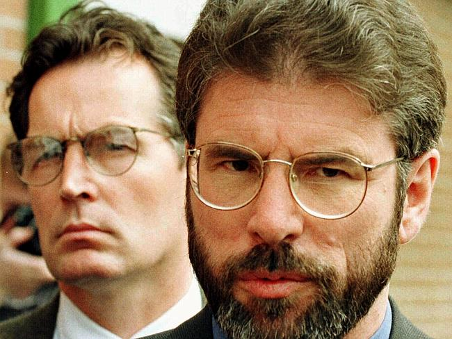 'Never shirked my responsibility to build the peace' ... Sinn Fein leader Gerry Adams in 1996.