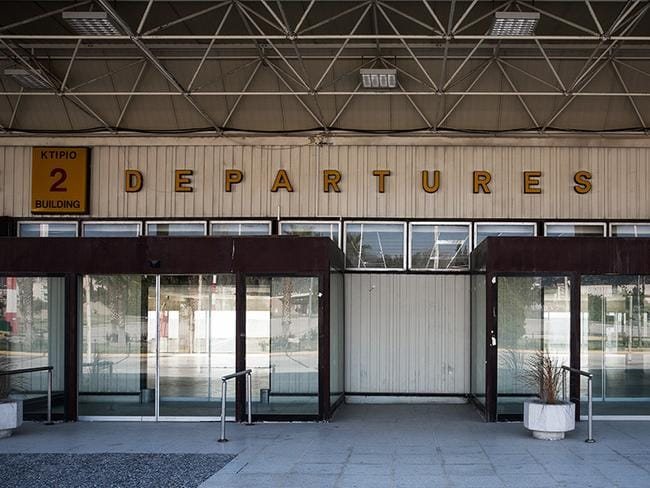 The departures area, is less run-down than other parts of the old airport. Picture: Vassilis Makris