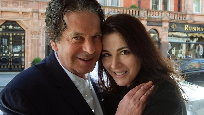 """Celebrity chef Nigella Lawson was apparently """"choked"""" by her husband Charles Saatchi at a London restaurant. Picture: Media Picture"""