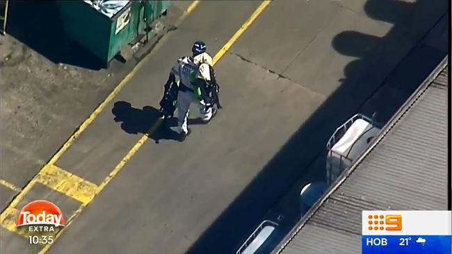 A third man was freed and taken to Westmead Hospital. +Picture Nine News
