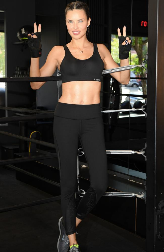 She's ready! VS angel Adriana Lima has been in training at famed gym Dog Pound in New York. Picture: Getty Images