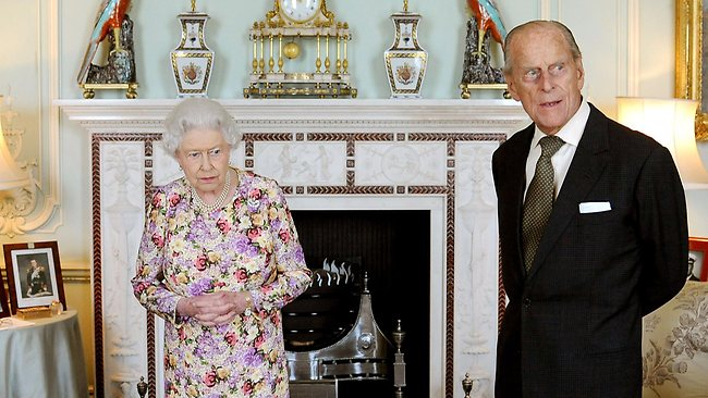 Prince Philip waits with the Queen before she presented him with New Zealand's highest honour, the Order of New Zealand, at Buckingham Palace on Thursday. Later in the day he was taken to hospital.