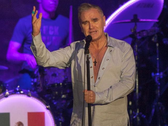 Morrissey performing in March. Picture: AFP/Julio Cesar