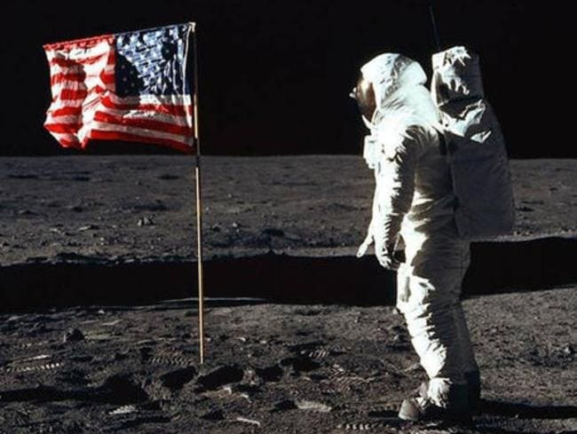 Astronaut Edwin E. Aldrin Jr, aka Buzz Aldrin, on the moon. Picture: NASA